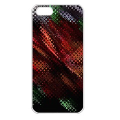 Abstract Green And Red Background Apple iPhone 5 Seamless Case (White)