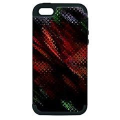 Abstract Green And Red Background Apple iPhone 5 Hardshell Case (PC+Silicone)