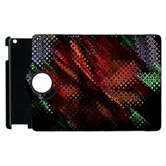 Abstract Green And Red Background Apple iPad 3/4 Flip 360 Case