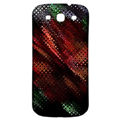 Abstract Green And Red Background Samsung Galaxy S3 S Iii Classic Hardshell Back Case