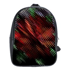 Abstract Green And Red Background School Bags (xl)