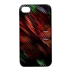 Abstract Green And Red Background Apple Iphone 4/4s Hardshell Case With Stand