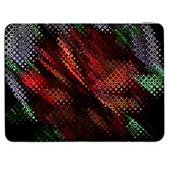 Abstract Green And Red Background Samsung Galaxy Tab 7  P1000 Flip Case