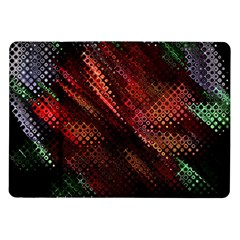 Abstract Green And Red Background Samsung Galaxy Tab 10.1  P7500 Flip Case