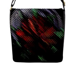 Abstract Green And Red Background Flap Messenger Bag (L)