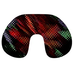 Abstract Green And Red Background Travel Neck Pillows