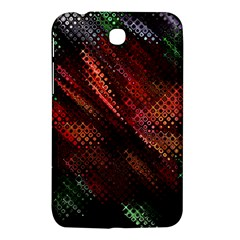 Abstract Green And Red Background Samsung Galaxy Tab 3 (7 ) P3200 Hardshell Case