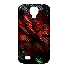 Abstract Green And Red Background Samsung Galaxy S4 Classic Hardshell Case (pc+silicone)