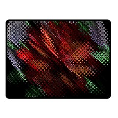 Abstract Green And Red Background Double Sided Fleece Blanket (Small)