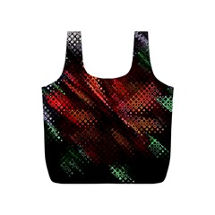 Abstract Green And Red Background Full Print Recycle Bags (S)