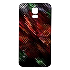 Abstract Green And Red Background Samsung Galaxy S5 Back Case (White)