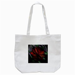 Abstract Green And Red Background Tote Bag (White)