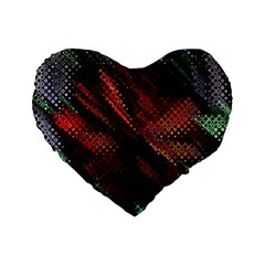 Abstract Green And Red Background Standard 16  Premium Flano Heart Shape Cushions