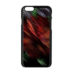 Abstract Green And Red Background Apple iPhone 6/6S Black Enamel Case