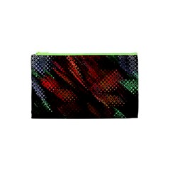 Abstract Green And Red Background Cosmetic Bag (xs)