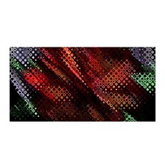 Abstract Green And Red Background Satin Wrap