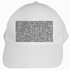 Abstract Knots Background Design Pattern White Cap