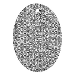 Abstract Knots Background Design Pattern Ornament (oval)