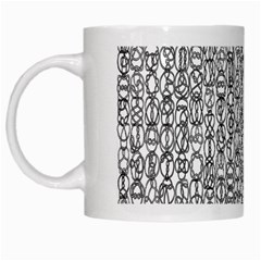 Abstract Knots Background Design Pattern White Mugs