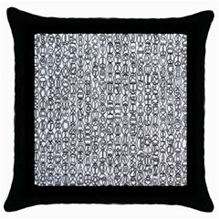 Abstract Knots Background Design Pattern Throw Pillow Case (Black)