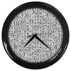 Abstract Knots Background Design Pattern Wall Clocks (black)