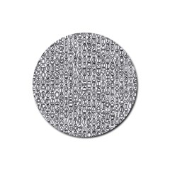 Abstract Knots Background Design Pattern Rubber Round Coaster (4 pack)