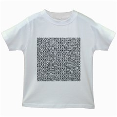 Abstract Knots Background Design Pattern Kids White T-Shirts