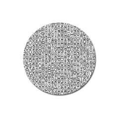 Abstract Knots Background Design Pattern Magnet 3  (Round)