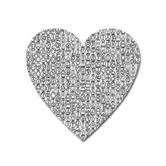 Abstract Knots Background Design Pattern Heart Magnet