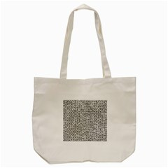 Abstract Knots Background Design Pattern Tote Bag (cream)