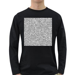 Abstract Knots Background Design Pattern Long Sleeve Dark T Shirts