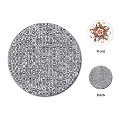 Abstract Knots Background Design Pattern Playing Cards (Round)