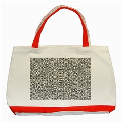 Abstract Knots Background Design Pattern Classic Tote Bag (Red)