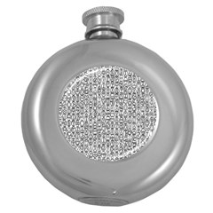 Abstract Knots Background Design Pattern Round Hip Flask (5 Oz)