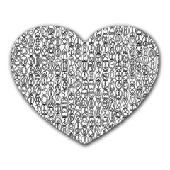Abstract Knots Background Design Pattern Heart Mousepads
