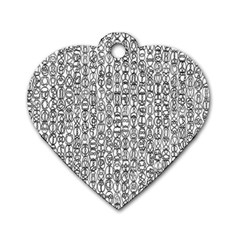 Abstract Knots Background Design Pattern Dog Tag Heart (Two Sides)