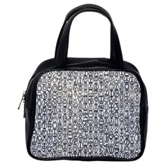 Abstract Knots Background Design Pattern Classic Handbags (One Side)