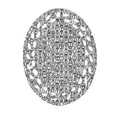 Abstract Knots Background Design Pattern Oval Filigree Ornament (Two Sides)