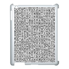 Abstract Knots Background Design Pattern Apple iPad 3/4 Case (White)