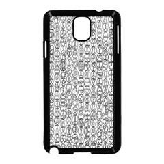 Abstract Knots Background Design Pattern Samsung Galaxy Note 3 Neo Hardshell Case (Black)