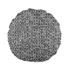 Abstract Knots Background Design Pattern Standard 15  Premium Flano Round Cushions