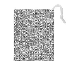 Abstract Knots Background Design Pattern Drawstring Pouches (extra Large)