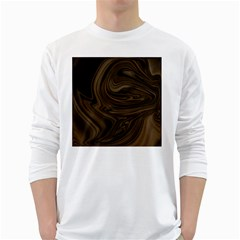Abstract Art White Long Sleeve T-Shirts