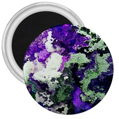 Background Abstract With Green And Purple Hues 3  Magnets