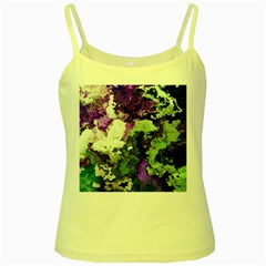 Background Abstract With Green And Purple Hues Yellow Spaghetti Tank