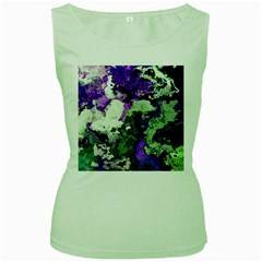 Background Abstract With Green And Purple Hues Women s Green Tank Top