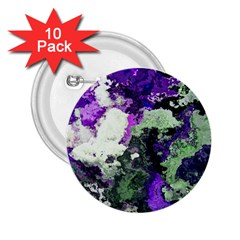 Background Abstract With Green And Purple Hues 2 25  Buttons (10 Pack)