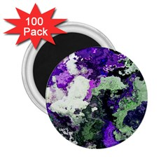 Background Abstract With Green And Purple Hues 2 25  Magnets (100 Pack)