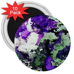 Background Abstract With Green And Purple Hues 3  Magnets (10 pack)