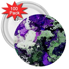 Background Abstract With Green And Purple Hues 3  Buttons (100 Pack)